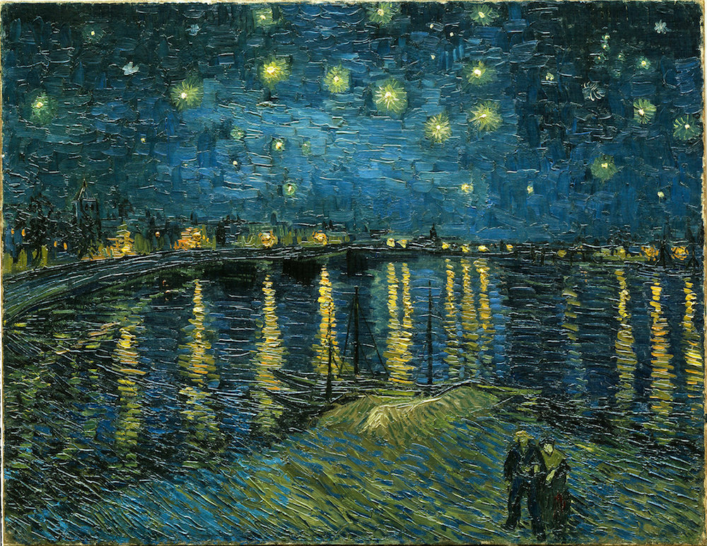 Vincent van Gogh - Starry Night Over the Rhone (1888)