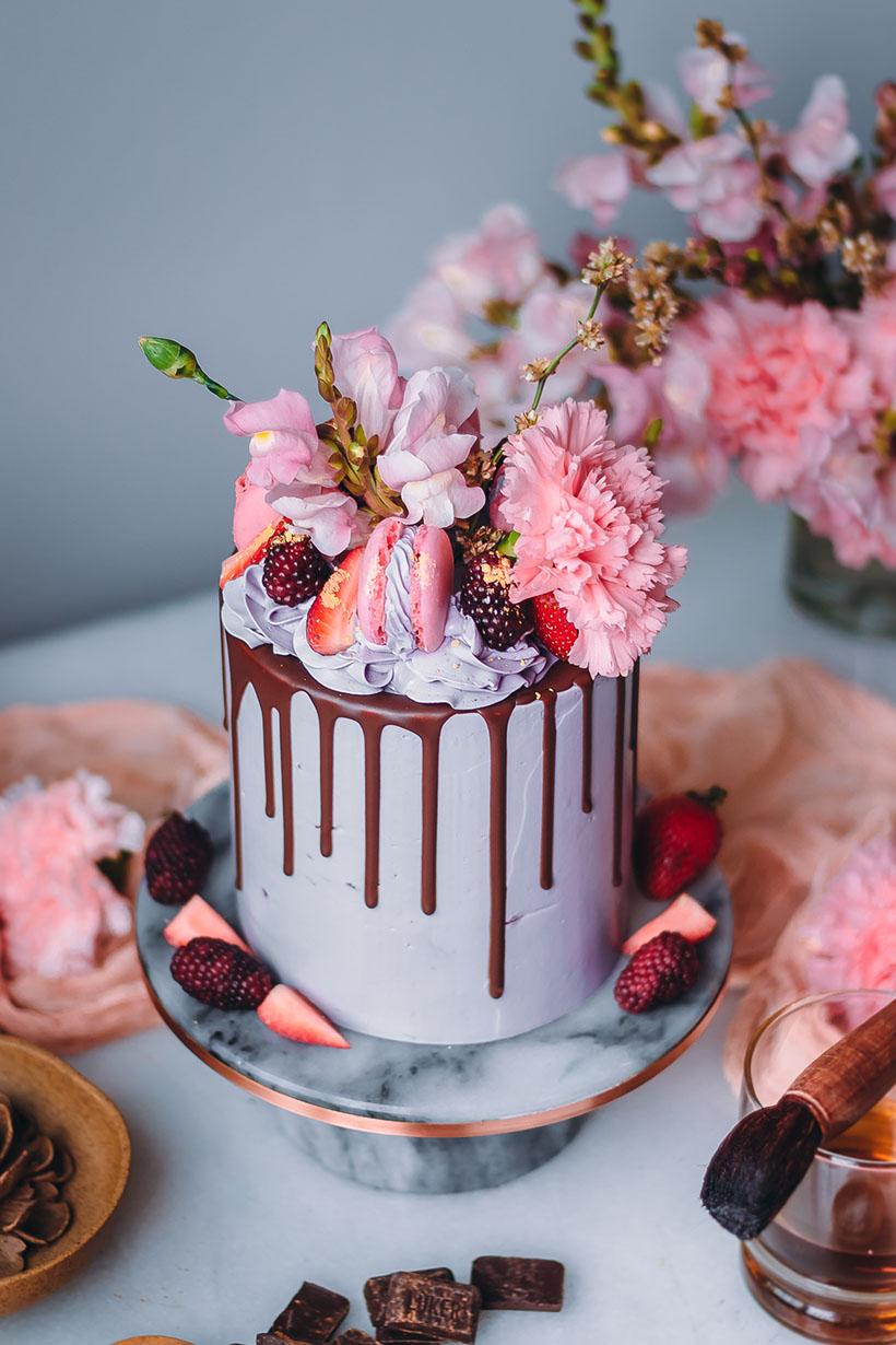 Chocolate Rum Blackberry cake recipe