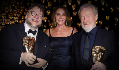 BAFTA 2018 - Guillermo del Toro - Ridley Scott - Joanna Lumley