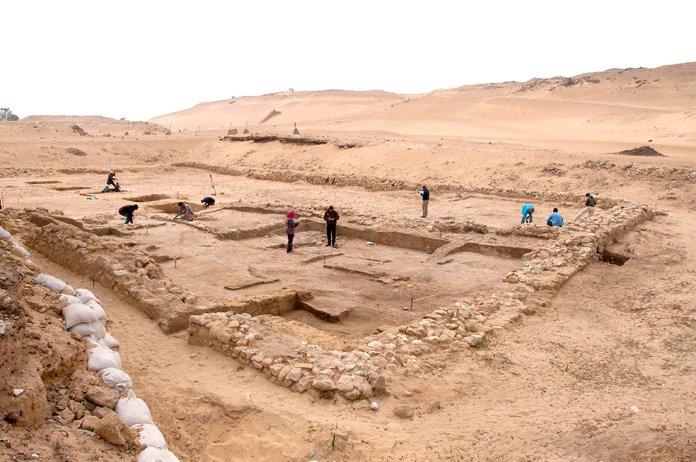 Se encontraron dos casas de 4.500 años de antigüedad cerca de las pirámides de Giza