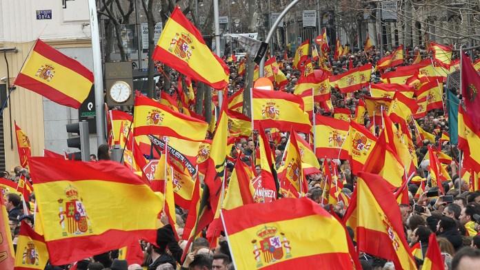 Manifiestan en Madrid para exigir salida de Pedro Sánchez