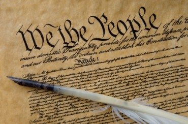 a picture of the We the people US constitution