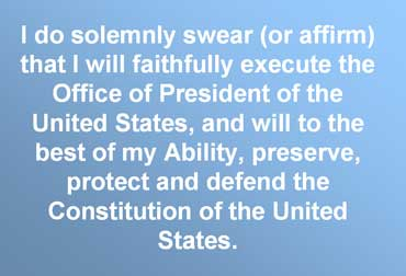 Image result for Presidential Oath of Office