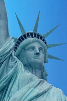 Statue of Liberty Face and Crown
