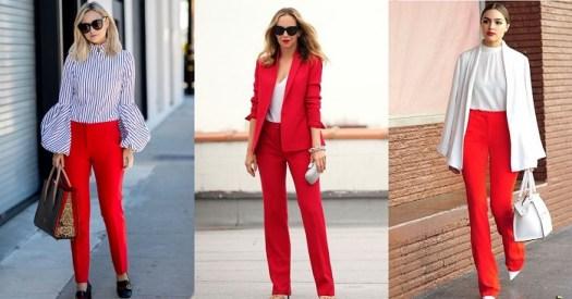7 Formas De Llevar Un Pantalon Rojo A La Oficina El Closet De Giuliana