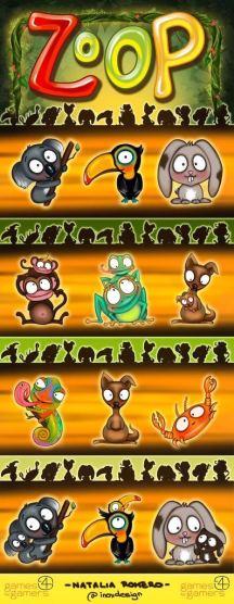 La familia de animales de Zoop. Fuente: BGG