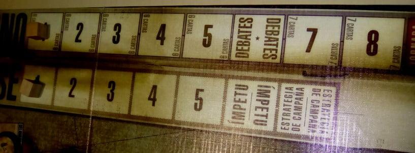 1960 Carrera hacia la Casa Blanca juego de mesa