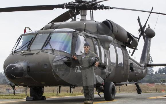 Desde este momento la capitana Charry está disponible para misiones de asaltos aéreos y humanitarias en el país. FOTO Jaime Pérez