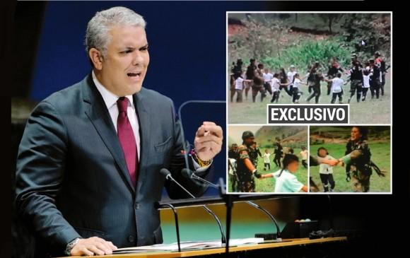 Esta es la foto del informe presentado por Duque que no es de Venezuela sino del Cauca. FOTO: Archivo EL COLOMBIANO