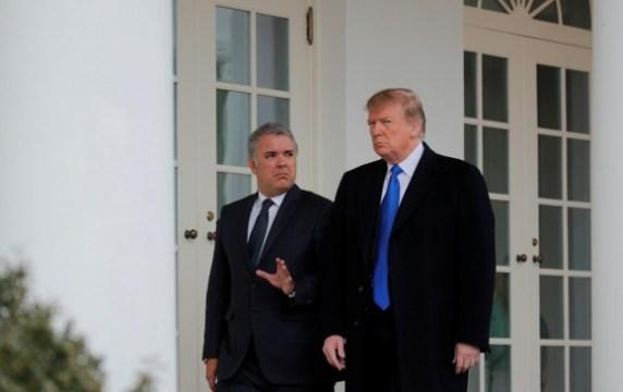 Iván Duque (presidente de Colombia) y Donald Trump (presidente Estados Unidos). FOTO: REUTERS