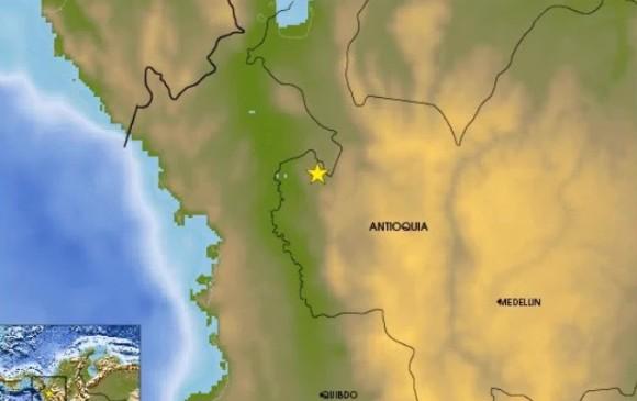 La capital más cercana a la zona del sismo fue Quibdó, a 151 kilómetros. FOTO Red Sismológica Nacional de Colombia
