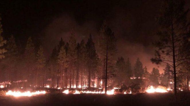 Los bomberos han trabajado permanentemente para sofocar el incendio. Foto. EFE