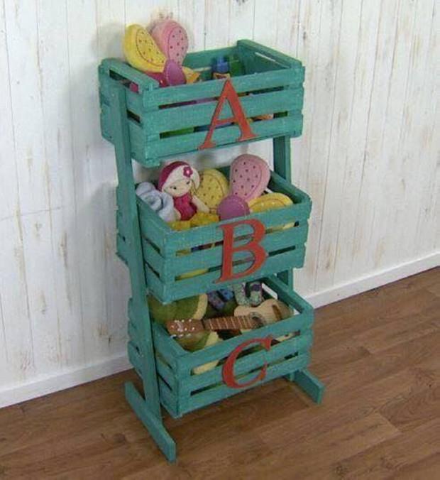 Ideas para reutilizar las cajas de frutas de madera como - Manualidades con cajas de madera de frutas ...