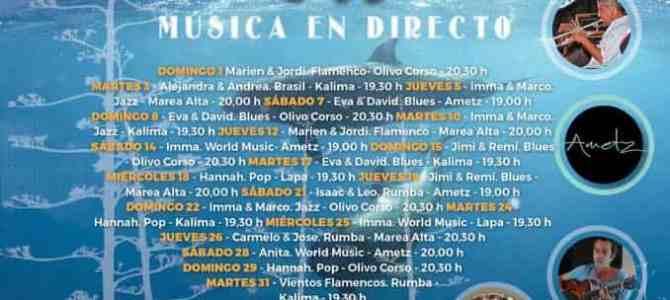 Live Music in El Cotillo Throughout July – Cotillo en Vivo