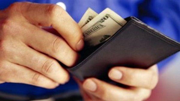 man wallet money