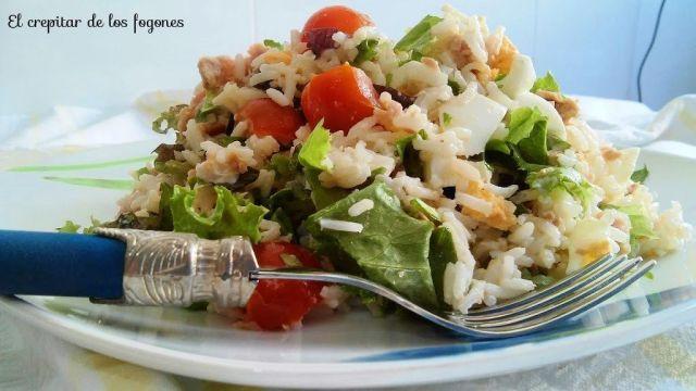 arroz basmati en ensalada