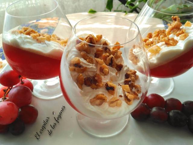 gelatina de uvas