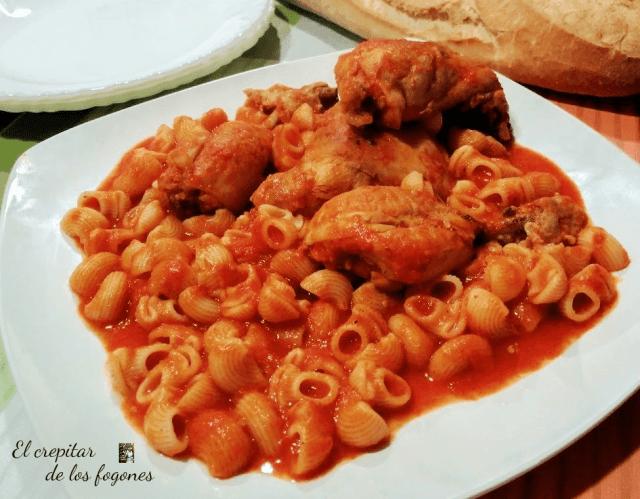 macarrones con pollo
