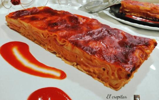 lasaña de jamón