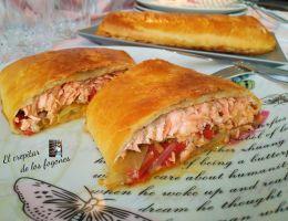 salmón en hojaldre