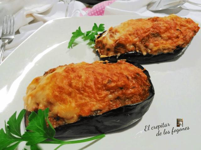 berenjenas con crema de queso