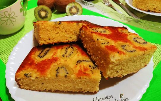 bizcocho de kiwi