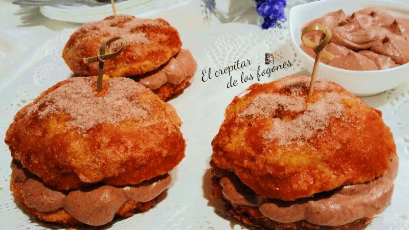 TORRIJAS RELLENAS DE TRUFA (con bollitos redondos)