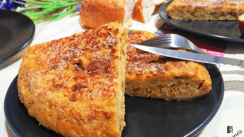 TORTILLA DULCE DE PAN (con sabor a torrijas)