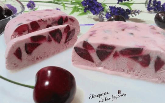 batido de cerezas con helado