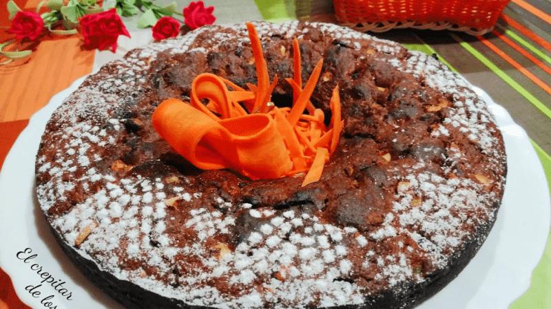 BIZCOCHO DE CHOCOLATE Y ZANAHORIA