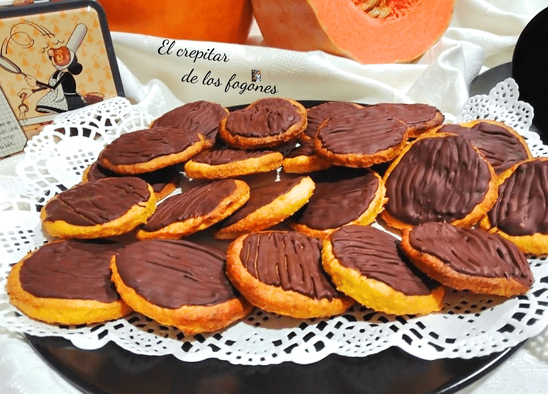 GALLETAS DE CALABAZA, COCO Y CHOCOLATE