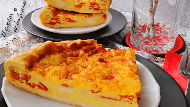 QUICHE DE PAVO, QUESITOS Y PIQUILLOS