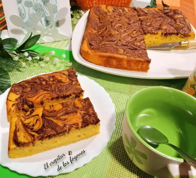 pastel de calabaza asada