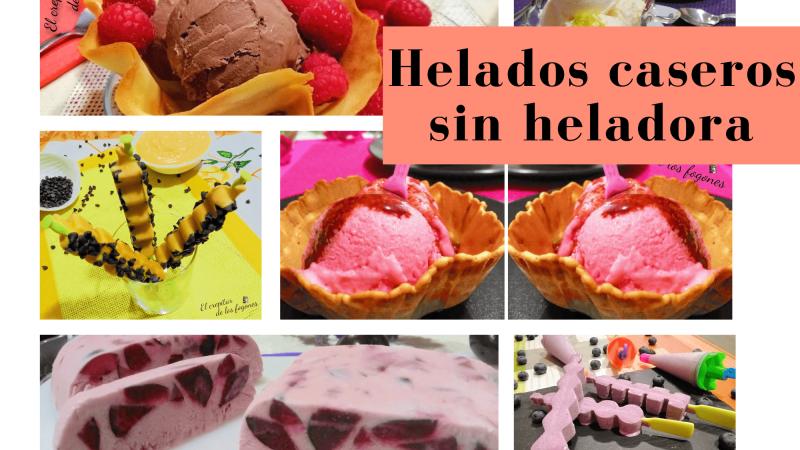 6 HELADOS CASEROS SIN HELADORA