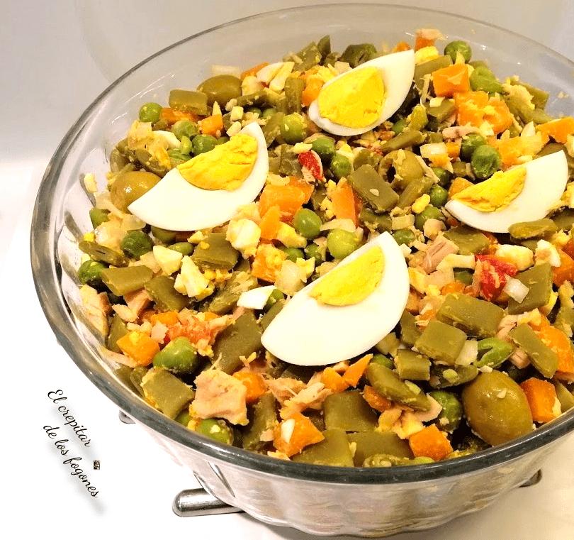 menestra fría de verduras
