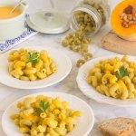 Pasta con salsa de calabaza y coco