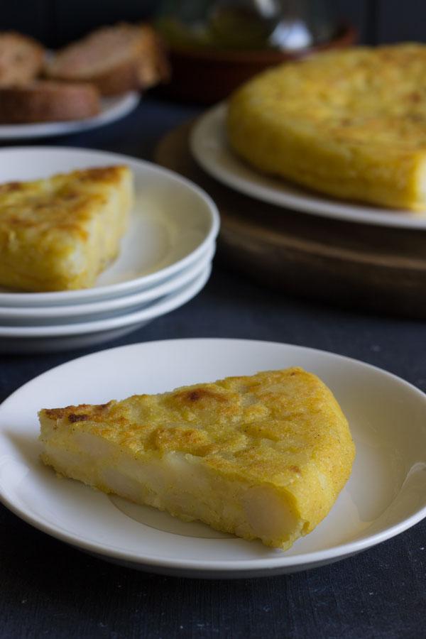 Tortilla de patatas vegana