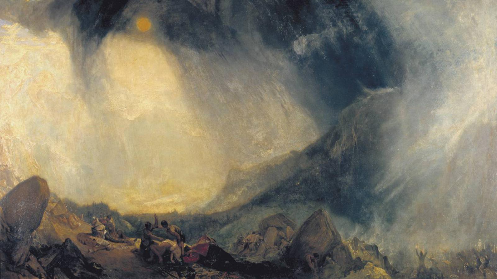 Snow Storm: Hannibal and his Army Crossing the Alps, JMW Turner (1812)