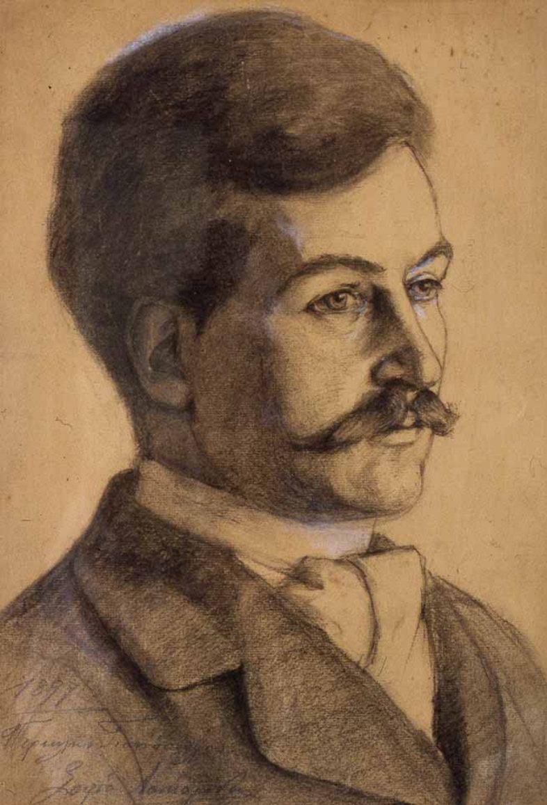 Πορτραίτο του Περικλή Γιαννόπουλου από τη Σοφία Λασκαρίδου