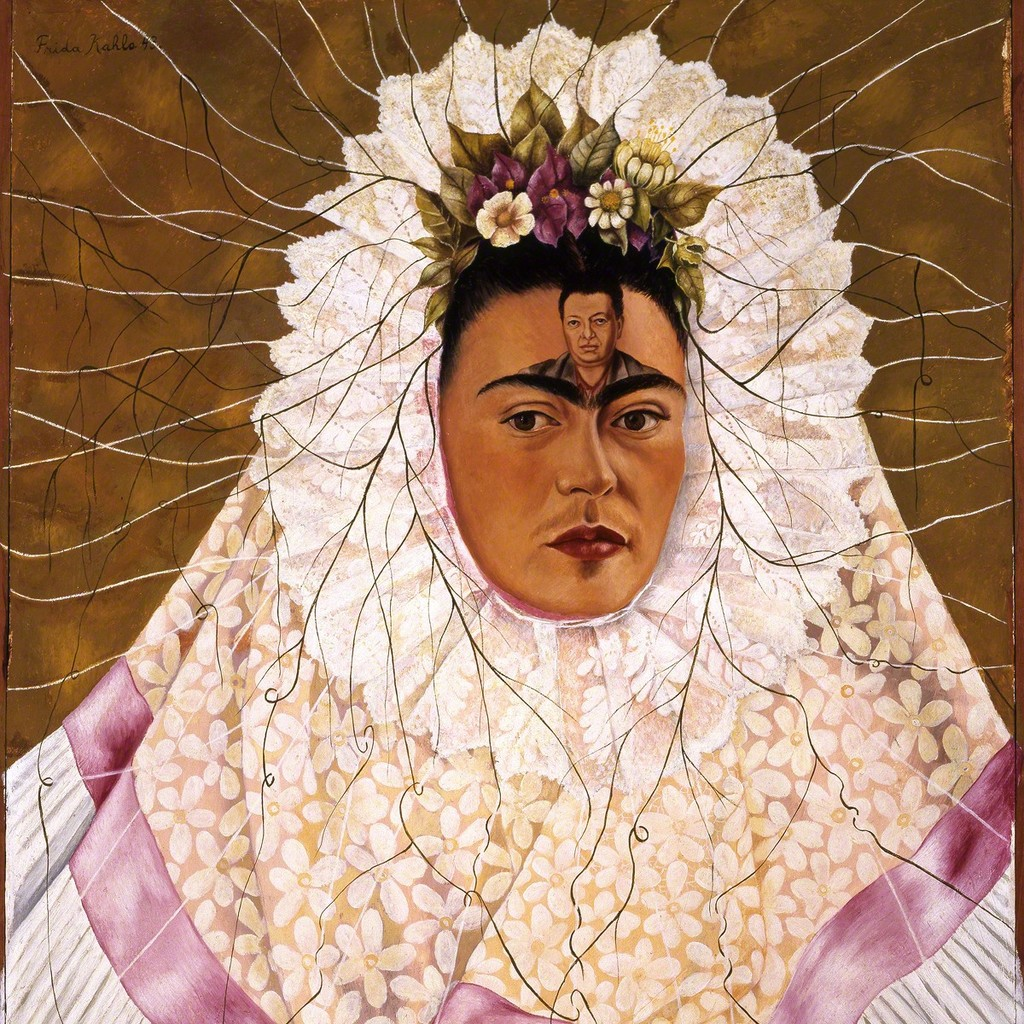 Frida Kahlo, Diego on my mind (Self-portrait as Tehuana), 1943, Art Gallery of New South Wales