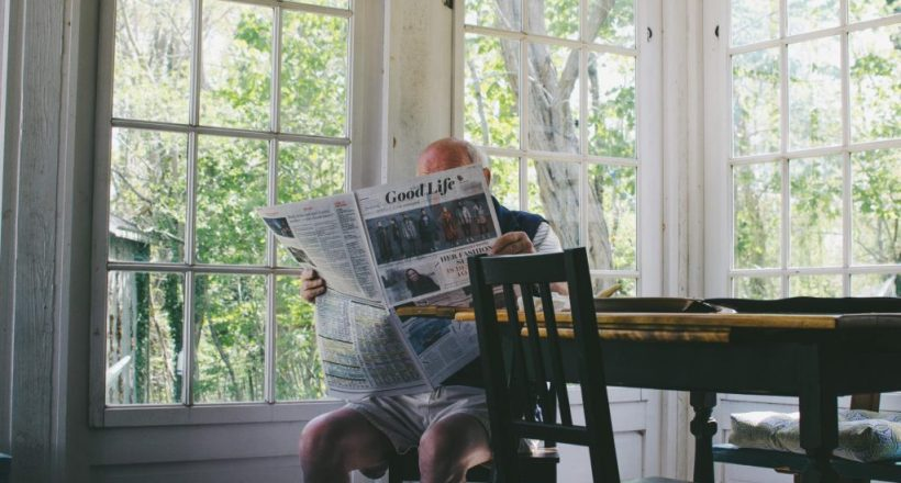 EldersHelpers-Senior-In-Home-Kitchen-Table-Reading-the-Paper