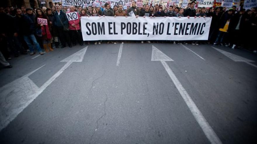 Lema de la 'primavera valenciana' (febrero, 2012)