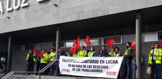 Las protestas de los trabajadores de las ambulancias se ha incrementado en las últimas semanas