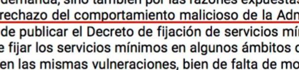 """Condena a la Xunta por vulnerar el derecho de huelga con un """"comportamiento malicioso"""""""