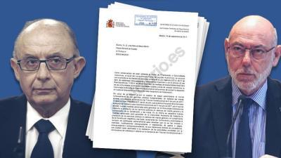 Una de las cartas de Hacienda al exfiscal Maza enviadas por Llarena a Alemania