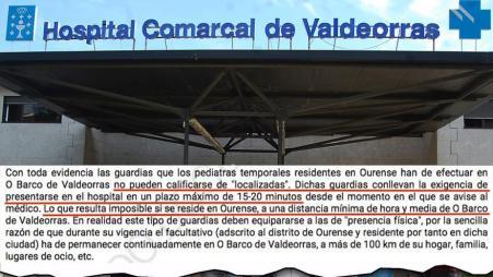 Hospital de Valdeorras y fragmento de la sentencia