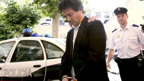 Javier Rodrigo de Santos a su llegada a los juzgados de Palma