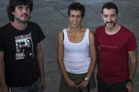 Manoel Martínez, Marta Macho y Roberto Sánchez, denuciantes de las irregularidades en la OPE de Osakidetza