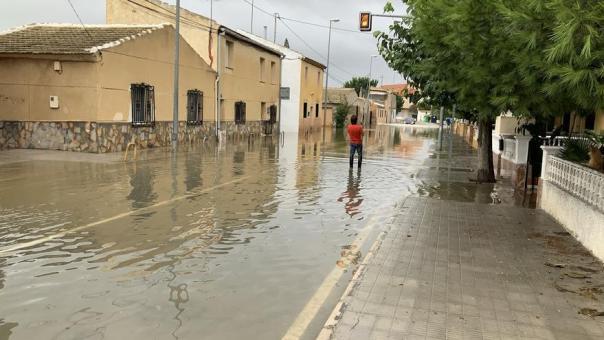Orihuela intenta recuperarse de los efectos del temporal de las últimas horas