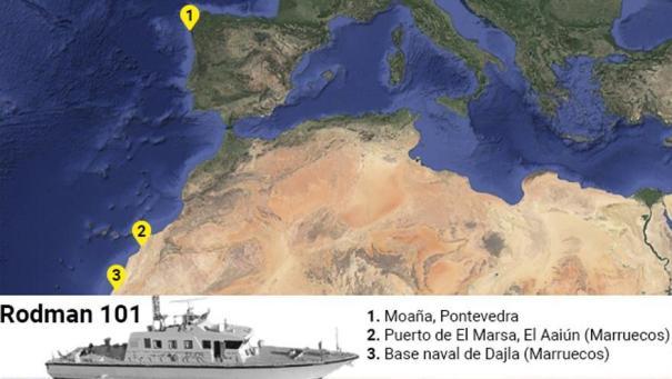 Los barcos han sido localizados primero en la planta de Rodman en Galicia y posteriormente en los puertos del Sáhara Ocidental.